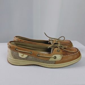 Sperry Shoes - Sperry Top-Spider Leather & Canvas Loafers Size 9